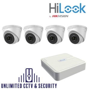 HILOOK IP 4 Camera kit with 5MP cams and 30m IR