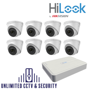 HILOOK IP 8 Camera kit with 5MP cams and 30m IR