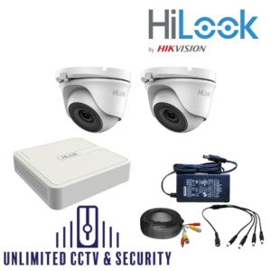 HILOOK TVI 2 Camera kit with 4MP Cams and 20m IR
