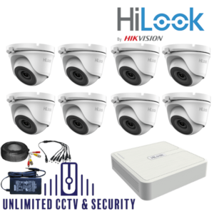 HILOOK TVI 8 Camera kit with 2MP cams and 20m IR