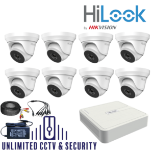 HILOOK TVI 8 Camera kit with 2MP cams and 40m IR