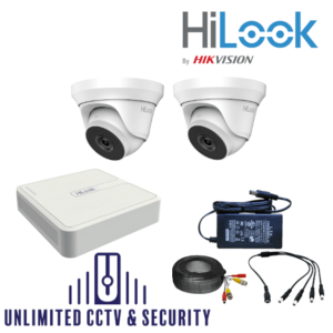 HILOOK TVI 2 Camera kit with 4MP Cams and 40m IR