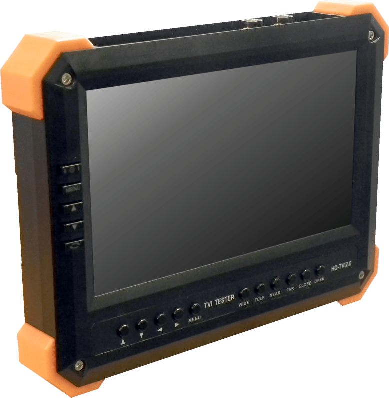 The CCTV Monitor Tester/TVI is capable of connecting to and viewing images from the TVI output of any Hikvision TVI camera for setup and positioning.