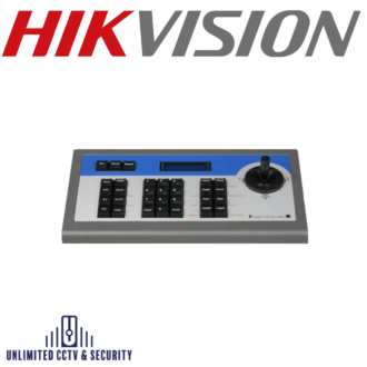 HIKVISION DS-1002KI, i,ncorporate all DVR front panel functions, control DVR and PTZ separately, support DVR and keyboard cascading and a 2D joystick.