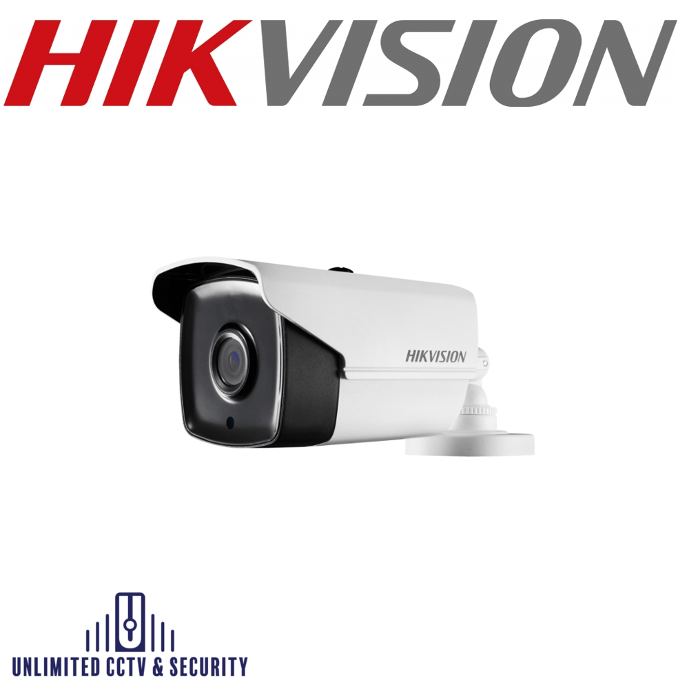 Hikvision DS-2CE16H1T-IT5 5MP fixed lens EXIR eyeball camera with HD-TVI technology, true day/night and up to 80m smart IR distance.