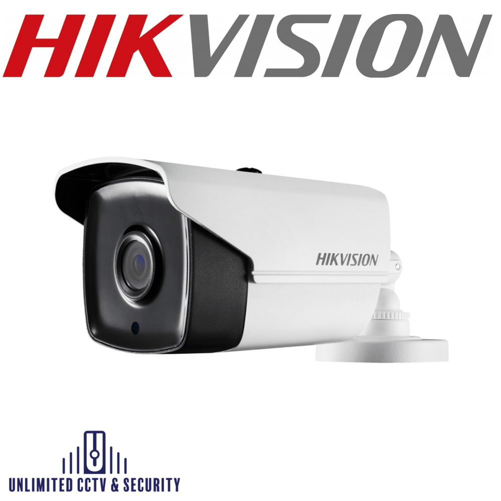 Hikvision DS-2CE16H1T-IT3E 5MP motorized varifocal lens EXIR bullet camera, adopts HD-TVI technology, true day/night and up to 40m IR distance.
