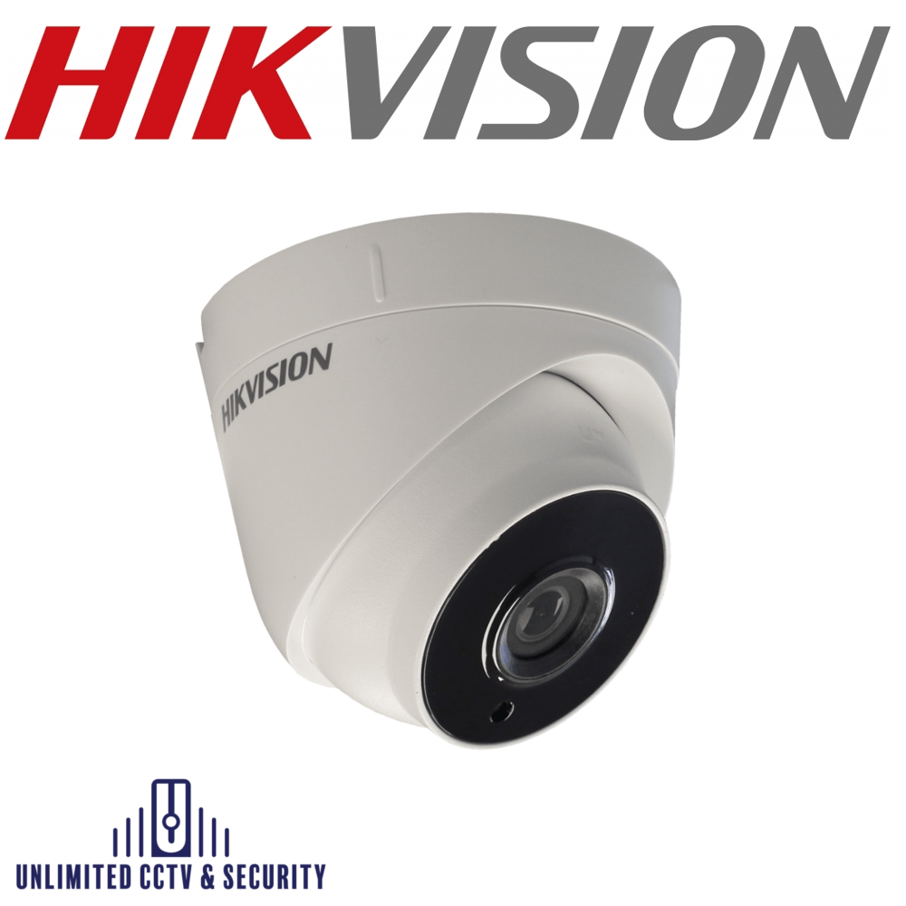 Hikvision 5MP fixed lens PoC EXIR turret camera, adopts HD-TVI technology, true day/night, EXIR technology and up to 40m IR distance.