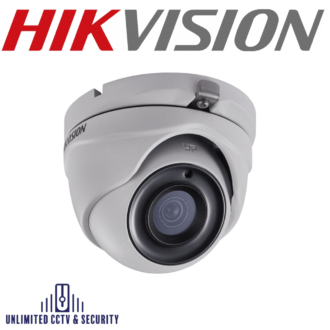 Hikvision 5MP fixed lens PoC EXIR eyeball camera, adopts HD-TVI technology, true day/night, EXIR2.0 technology with up to 20m IR distance.
