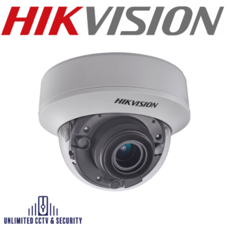 Hikvision 5MP motorized varifocal PoC EXIR internal dome camera with high performance CMOS, true day/night, EXIR technology and up to 30m IR distance.