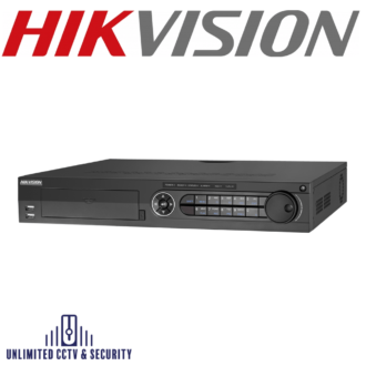 Hikvision 8 channel Turbo 3.0 TVI DVR connectableto HD-TVI, AHD, IP & analoguecameras and up to 10ch 4MP ONVIF conformant IP cameras input.