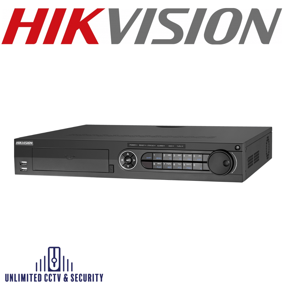 Hikvision 8 channel Turbo 3.0 TVI DVR connectable to HD-TVI, AHD, IP & analogue cameras and up to 10ch 4MP ONVIF conformant IP cameras input.