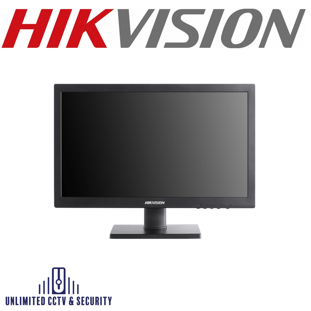 HIKVISION DS-D5019QE-B 18.5″ LED Monitor with HD 1366×768, wide view angle: 90°(H)/65°(V), 3D comb filter, 3D de-interlace, 3D noise reduction, HDMI/VGA.