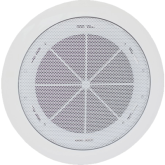 Designed for simple installation, the TOA PC-1868W-EB ceiling mount speaker is equipped with a metal grille an ABS resin Baffle.