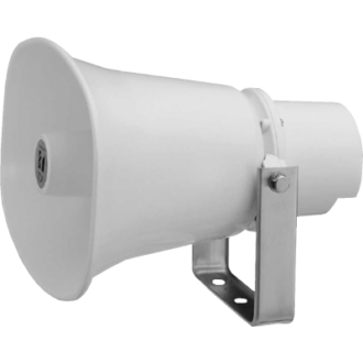 The Horn speaker, 10W SC-610M is a compact, highly intelligible speaker suited to public address announcement applications.